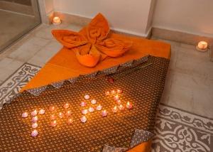 Closeup of Thai massage bed